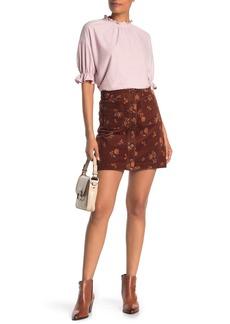 Madewell Floral Tab Mini Skirt