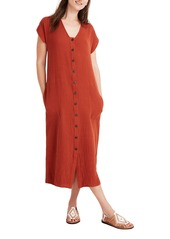 Madewell Gauze Easy Midi Dress (Regular & Plus Size)