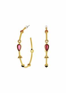 Madewell Gemstone Oval Hoop Earrings