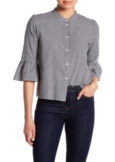 Madewell Gingham Bell Sleeve Shirt