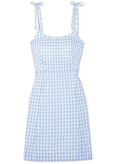 Madewell Gingham Cotton-blend Mini Dress