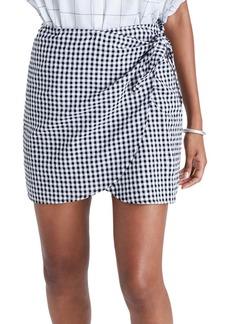 Madewell Gingham Wrap Miniskirt