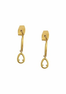 Madewell Glass Tear Drop Charm Earrings