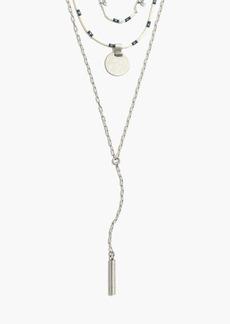 Madewell Halfmoon Lariat Necklace Set