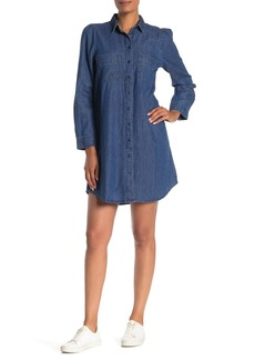 Madewell Harris Denim Puff Sleeve Shirt Dress