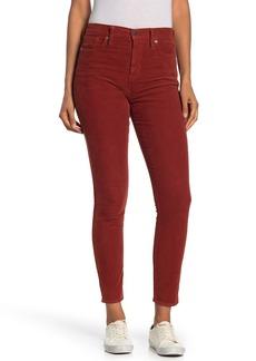 Madewell High Rise Corduroy Crop Skinny Jeans