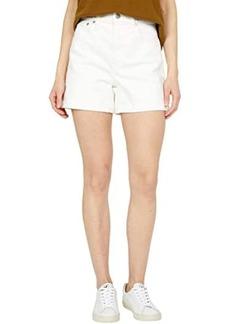Madewell High-Rise Denim Shorts in Tile White