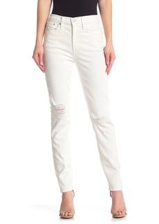 Madewell High Rise Distressed Slim Boyfriend Jeans