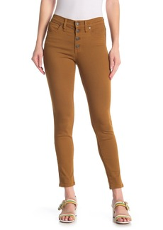 Madewell High Rise Garment Dyed Button Fly Jeans