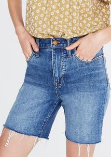 Madewell High Rise Mid Length Denim Shorts