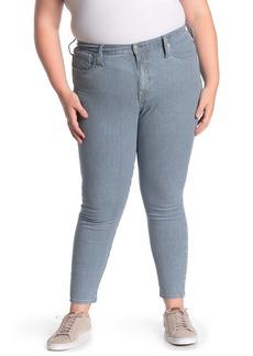Madewell High Rise Railroad Stripe Skinny Jeans (Plus Size)