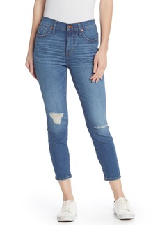 Madewell High Rise Skinny Cropped Ripped Jeans