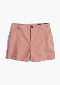 High-Rise Twill Shorts