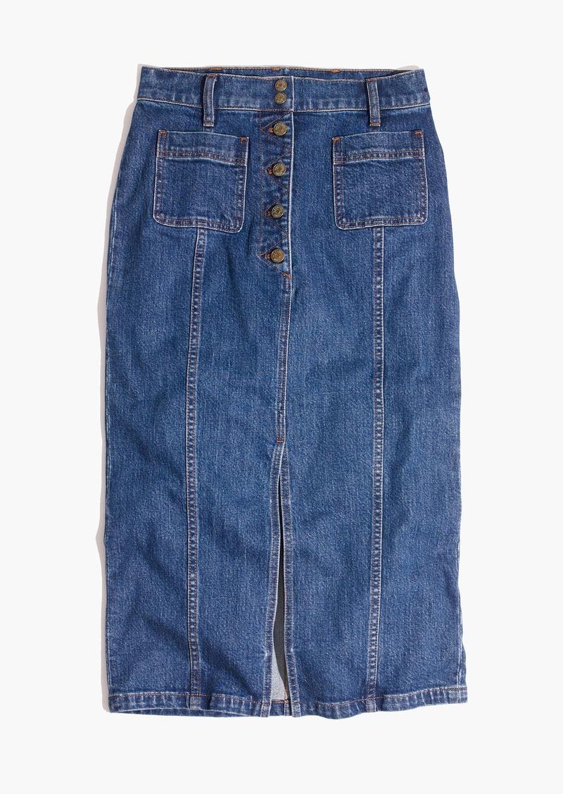 648c8fc4af Madewell High-Slit Jean Skirt | Skirts