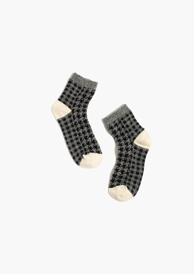 Madewell Houndstooth Ankle Socks