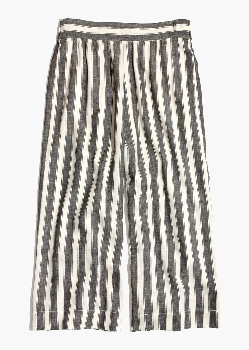 2d674c3e0d Madewell Huston Pull-On Crop Pants in Stripe