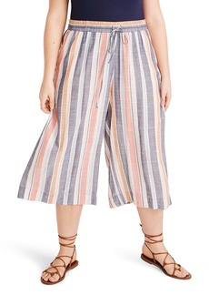 Madewell Huston Towel Stripe Crop Cover-Up Pants