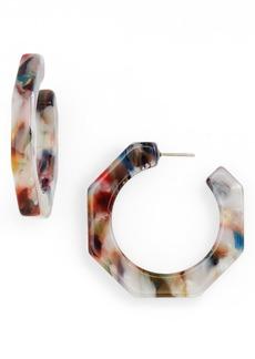 Madewell Jane Acetate Geometric Hoop Earrings
