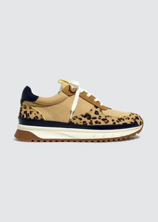 Madewell Kickoff Trainer Sneakers In Colorblock Leather And Leopard Calf Hair - 6/5 - Also in: 11, 8/5, 6, 8, 7/5, 7