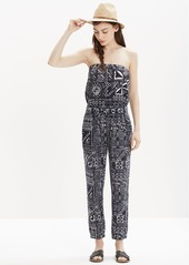 Madewell kingston cover-up jumpsuit in inkspell
