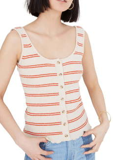 Madewell Kingston Stripe Button Front Sweater Tank