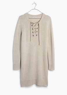 Madewell Lace-Up Sweater-Dress