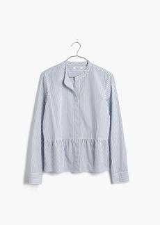 Madewell Lakeside Peplum Shirt in Stripe