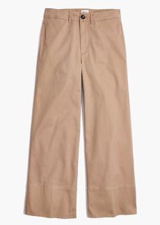 Langford Wide-Leg Crop Pants in Light Latte