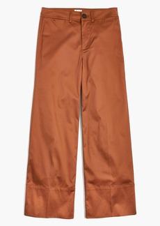 Langford Wide-Leg Crop Pants in Sateen