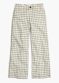 Langford Wide-Leg Crop Pants in Windowpane