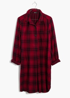 Latitude Shirtdress in Leland Plaid
