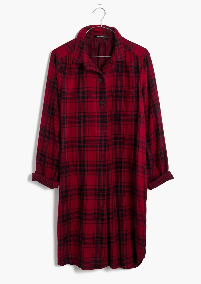 Madewell Latitude Shirtdress in Leland Plaid