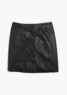 Madewell Leather Button-Front Skirt