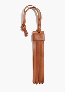 Madewell Leather Fringe Bag Tag