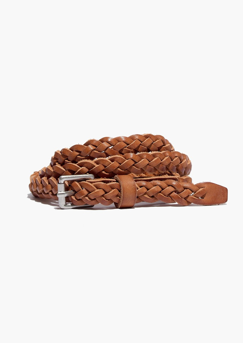Madewell Leather Skinny Braided Belt