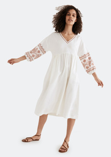 Madewell Long Sleeve Embroidered Midi Dress - S - Also in: XS, XL, M