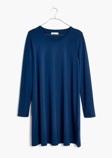 Long-Sleeve Swingy Tee Dress