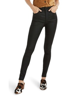 Madewell 10 Coated Edition High Waist Skinny Jeans (True Black)