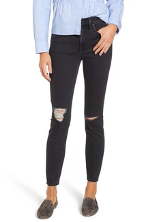 Madewell 9-Inch High Rise Ripped Skinny Jeans (Ruth)