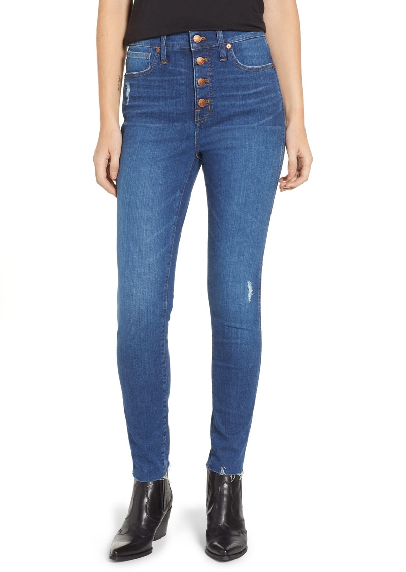 High Jeans Madewell Skinny hanna Rise 10 Denim Inch EXwXzZ