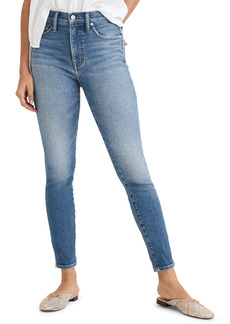 Madewell 10-Inch High Waist Crop Skinny Jeans (Sheffield Wash) (Regular, Petite & Tall)