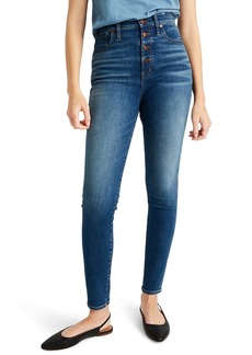 Madewell 11-Inch High Rise Skinny Jeans: Button Front Edition (Ames Wash)