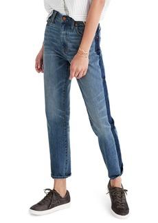 Madewell 11-Inch High Rise Stripe Slim Boyfriend Jeans (Canton Wash)