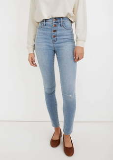 Madewell 11-Inch Roadtripper High Waist Button Front Skinny Jeans (Beckwith Wash)