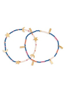 Madewell 2-Pack Beaded Bracelets