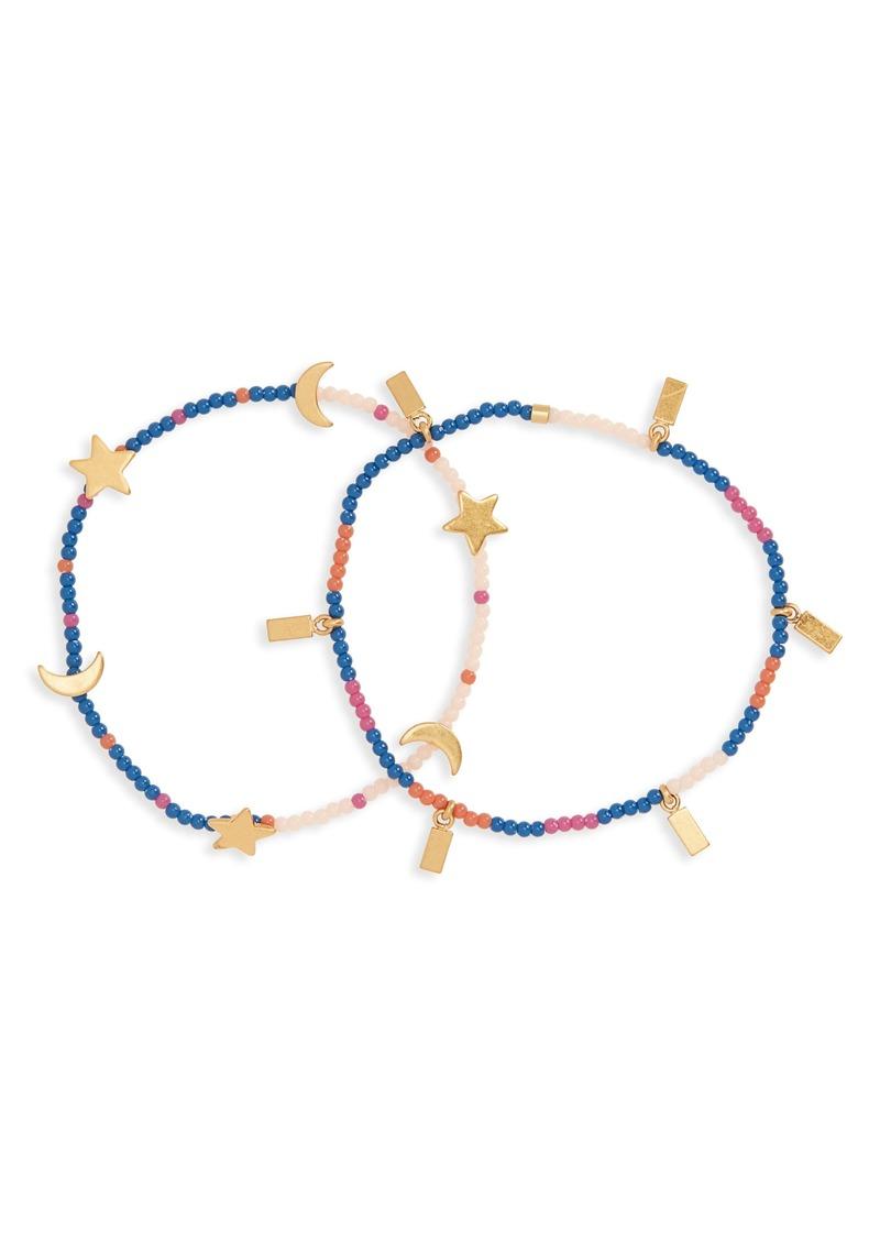 Madewell 2-Pack Beaded Bracelets