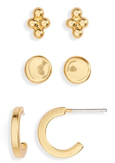 Madewell 3-Pack Classic Earring Set