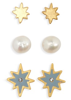 Madewell 3-Pack Starshine Stud Earring Set
