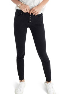 Madewell 9-Inch Button High Waist Ankle Skinny Jeans (Berkeley Wash)