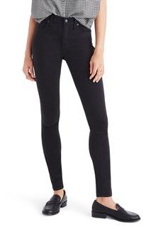 Madewell 9-Inch High Rise Sateen Skinny Jeans (Burnished Cedar)